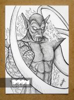 Super Skrull bw drawing by DoomCMYK