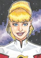 Saturn girl Sketch Card Sample by chicagogeekdad