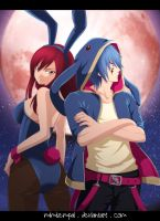 Fairy Tail _ Jellal Erza : Two rabbits in love... by MimiSempai