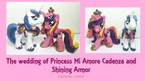 Royal Wedding Cadence and Shining Armor Customs by XantheStar
