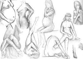 Collection of Drawings . Nude by Princess-Watkins
