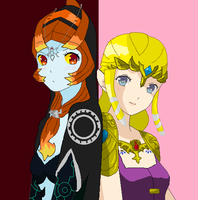 Midna and Zelda by g86