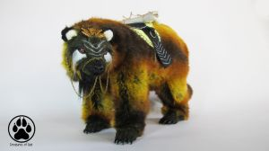 Copernicus the sun bear poeseable artdoll OOAK! by CreaturesofNat