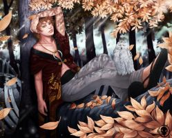 Golden leaves by RudeOwl