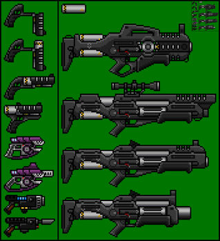 Energy Weapon Sprites by Kain241