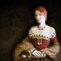 Portrait of a Lady in Red by crimsonvermillion