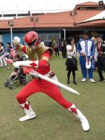 Red Mighty Morphin Power Ranger by StealthNinja5