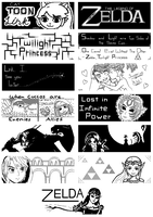 Various Legend of Zelda Miiverse Drawings by Lengurkur