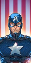 Captain America Panel Art Colored By Ihor Loboda by RichBernatovech