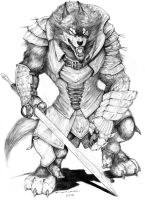 Rifts Fantasy Wolfen by ChuckWalton