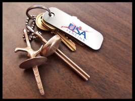 3D Printed Fencing Keychain Pic by MrRstar