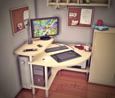 project of my new desk by Andyk77