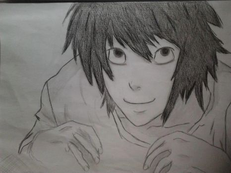 L - Death Note (Draw) by anameirelles13