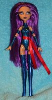 Psylocke OOAK Monster High doll custom by rainbow1977