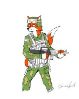 Fox Soldier :WIP: by CrimsonHussar