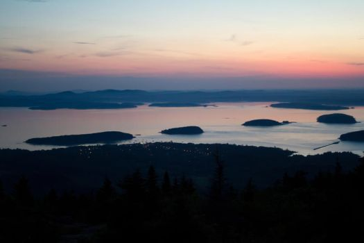 Overlooking Bar Harbor by Popstudios