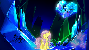 Crystal Fluttershy by Klon3
