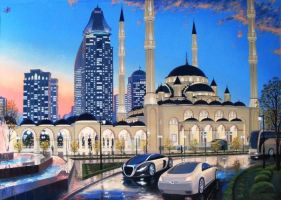 New Grozny by chechenartists