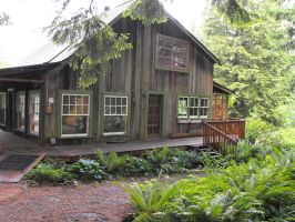 Rustic House in the Woods of Oregon by gregorywoodl