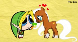 My Little Epona and Link Puff by MiketheMike