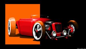 PixelArt Hot Rod by Medvezh