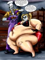 The Joker Fattens Harley Quinn by Ray-Norr