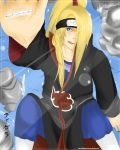 Wet Deidara by LittleKumiko