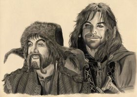 Bofur and Kili by Ilojleen