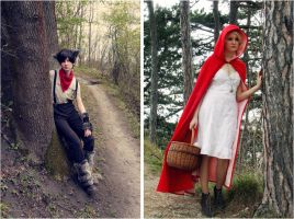 Little Red Riding Hood and the Wolf - single pics by Ta-moe