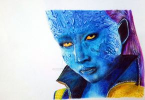 Resubmit-Mystique (color pencil on paper) by r2born