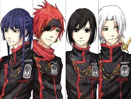 D. Gray-Man bookmarks by 3fukutaicho