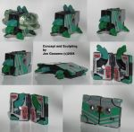 Transforming Turtle Cassette by whodagoose
