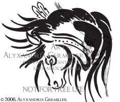 Painted Pony Tattoo by SargassosArt