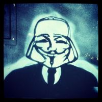 Anonymous Street Art Fawkes Vador Poitiers France by OpGraffiti