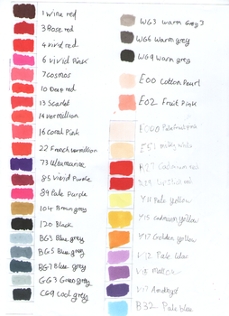 Touchfive Marker Colour Chart Page 2 by Penholderart