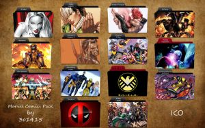 Marvel Comics Folder Icons by 3o1415