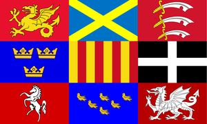 English Heptarchy Flags by Rory-The-Lion