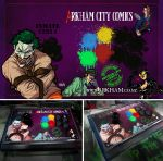 Arkham City Comics' ArkAde Stick custom art by BloodySamoan