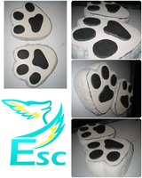 Fursuit Feet Modification: Rubber Paw Pads + Sole by Eternalskyy