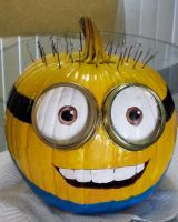 Minion Pumpkin by Fire-Redhead