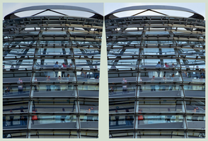 Reichstag dome 3D ::: HDR Cross-Eye Stereoscopy by zour