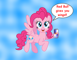 Pinkie on Red Bull by AleximusPrime