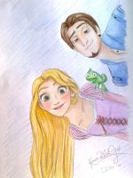 Tangled's Rapunzel and Flynn by TottieWoodstock