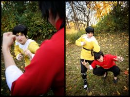 Ranma vs. Ryoga by Des-Henkers-Braut