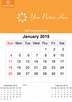 1-January-2015-Calendar by 123freevectors