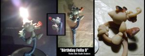 Fella b-Day Candle Sculpture by FreeLancerFox