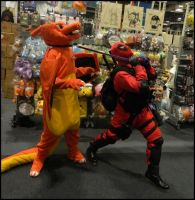 Charizard and Deadpool by MJ-Cosplay