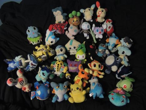 Pokemon Plush Collection by HannahDoma