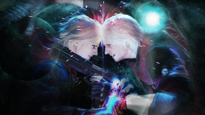 Celestial projection of Nero and Dante by Eron-Erltard