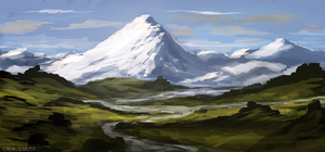 Snowy Peaks (Speedie) by ehecod